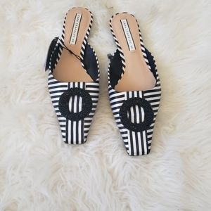 Zara  Black and White Mules